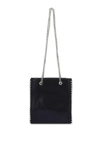 Something Borrowed black Metal Trim Small Tote Bag 5774FZZC18C0E8GS_1