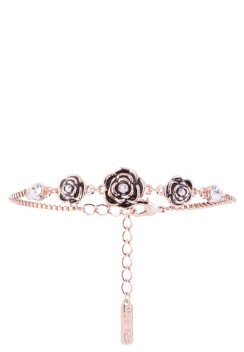 9818fd6ee Mestige gold Rose Gold French Rose Bracelet With Swarovski Crystals  E50E1AC1FFD9EFGS_1