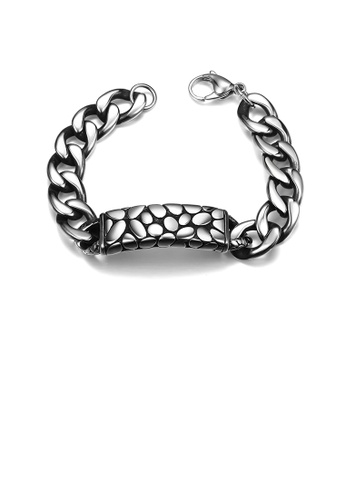 Glamorousky silver Fashion Simple Ancient Mayan Geometric 316L Stainless Steel Bracelet 1BFE4AC6705DCFGS_1