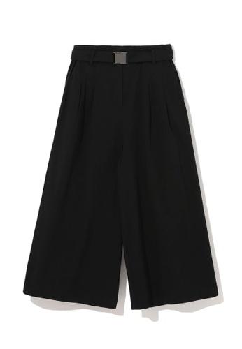 b+ab black Buckle waist culottes FD3BDAA5564769GS_1