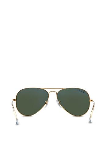Aviator Large Metal RB3025 Polarized Sunglasses