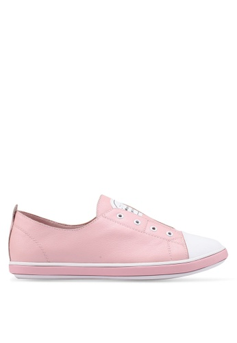 prettyFIT pink Leather Slip On Sneakers 0751CSHBB53192GS_1