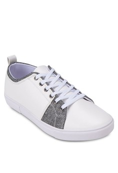 Contrast Mixed Material Sneakers
