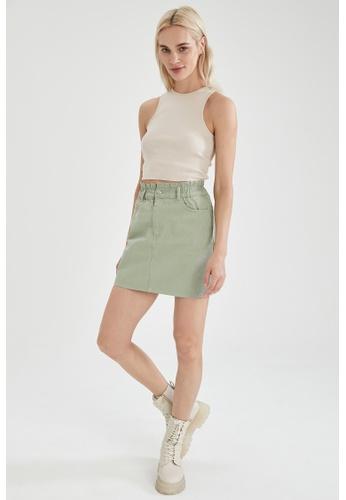 DeFacto green A-Line Mini Skirt 8F8E4AAB9236FDGS_1