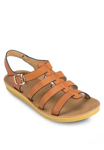 寬帶繞踝羅馬涼鞋,esprit招聘 女鞋, 涼鞋