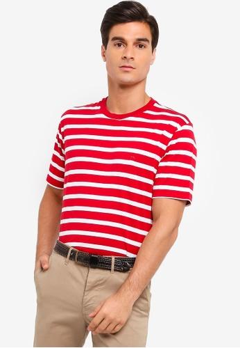 Brooks Brothers red Supima Stripe Tee 6E875AAAEA04F4GS_1