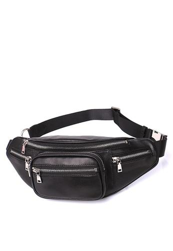 Twenty Eight Shoes black VANSA Top Layer Sheep Leather Waist Bag VBU-Bb90111 91B48ACBDA3E9FGS_1