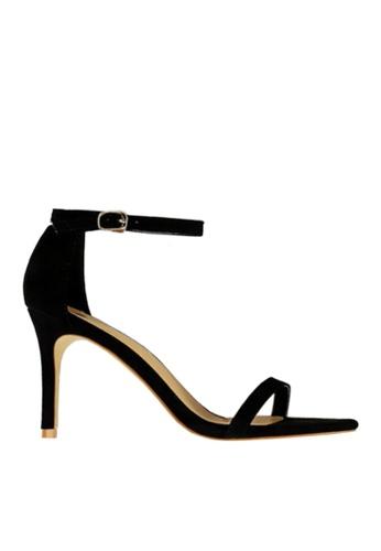 Twenty Eight Shoes black Suede Single Strap Heel Sandals VS126A9 BE04BSH783844FGS_1