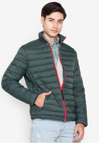 Springfield black Water repellent padded jacket 209CCAABB1F768GS_1