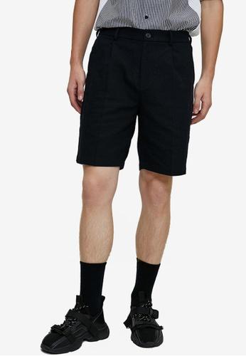 Urban Revivo grey Woven Shorts 3C18BAAFB23C5BGS_1