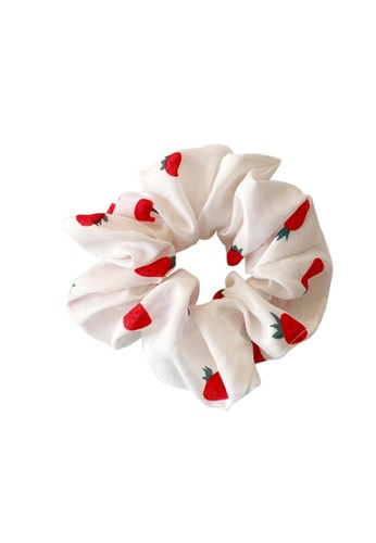 Kings Collection white Strawberry Scrunchy (HA20045) 94A9AAC942C730GS_1