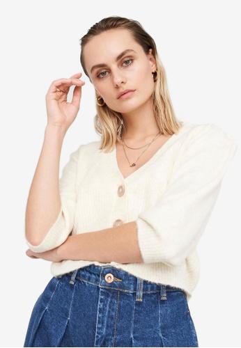 Noisy May 白色 Lilje V領 罩衫 207B2AAB464341GS_1