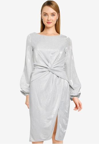 CHI CHI LONDON silver Chi Chi Scarletta Dress A0D38AA903306CGS_1