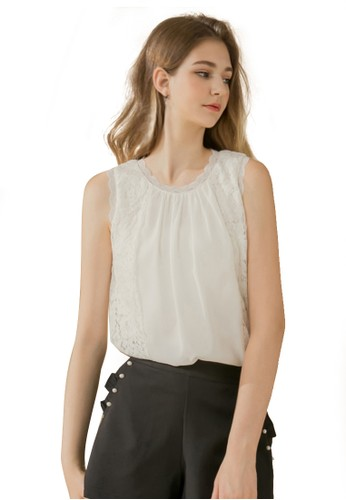 Eyescream white Lace Top 112A7AA50927C7GS_1