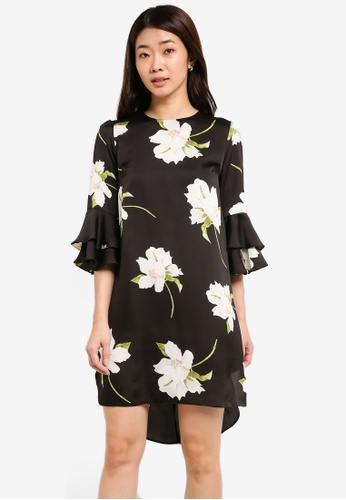 Dorothy Perkins black Lily Printed Shift Dress DO816AA0RJPMMY_1
