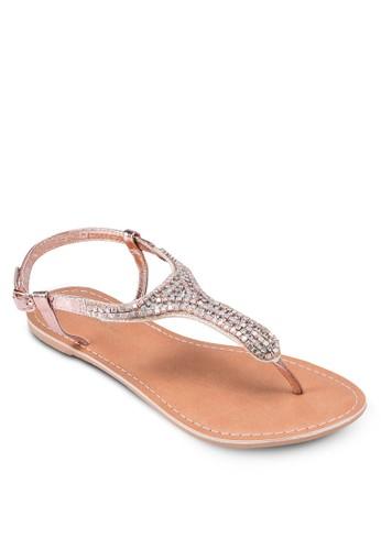 Shea 閃飾夾腳繞踝涼鞋, 韓系時尚, esprit 寢具梳妝