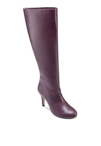 及膝拉鍊有跟zalora鞋高筒靴, 女鞋, 鞋