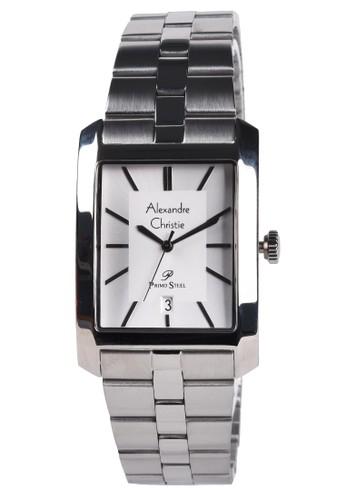 Alexandre Christie silver Alexandre Christie - Jam Tangan Pria - Silver - Stainless Steel Bracelet - 1019MDBSSSL 80A8BACFDDF784GS_1