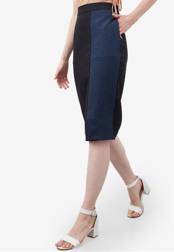 Berrybenka black Hafez Jacquard Skirt C5A0AAAE2107DDGS_1