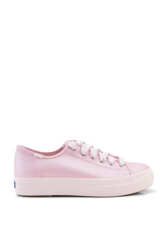 Keds pink Triple Kick Shimmer Canvas Sneakers 44574SHCEB896CGS_1