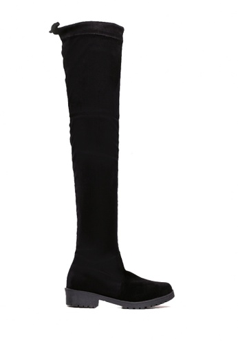Twenty Eight Shoes 黑色 矮跟過膝靴 VB7958 A27C8SH733C8B9GS_1