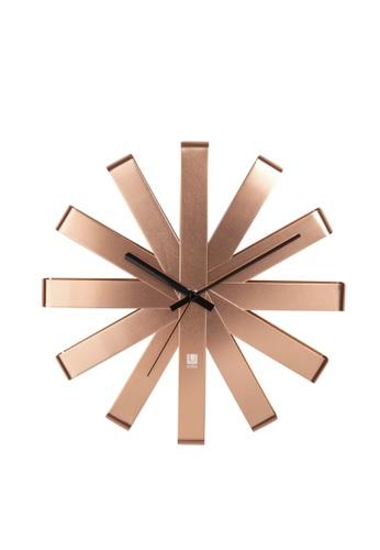 Umbra gold Ribbon Wall Clock 0CA6AHLF692AB2GS_1