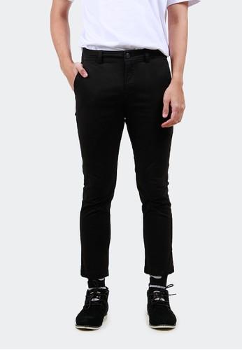 HUBBU black Celana Chino Ankle Pants Panjang A07008H Hitam 57FDFAA42A48BCGS_1