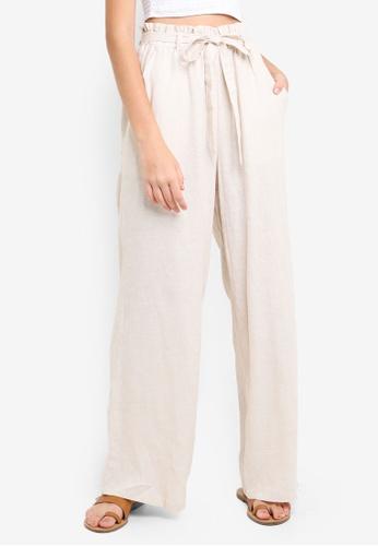 Supre beige Luna Paperbag Waist Pants 443D7AA343B5D4GS_1