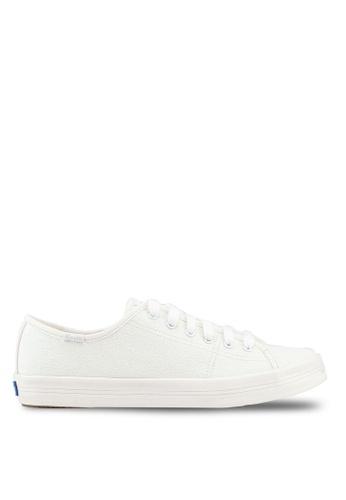 52a2afea9fb33 Keds white Kickstart Iridescent Canvas Sneakers 47D08SHDF3027BGS 1