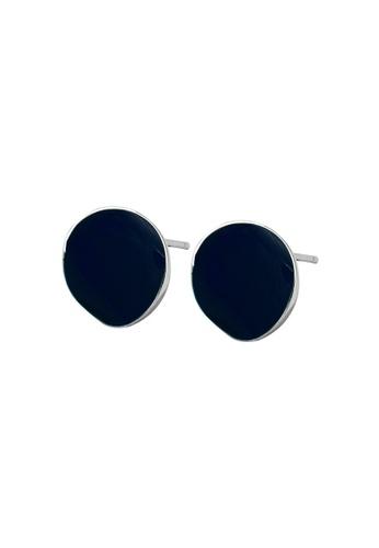 LYCKA blue LDR1247 S925 Silver Minimal Plates Stud Earrings 018F6AC8386E49GS_1