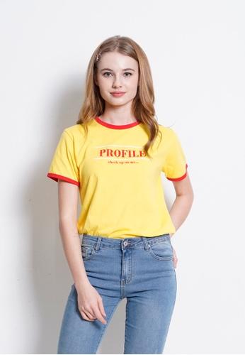 Fave yellow Short Sleeve Graphic Tee F10B8AA4B6B599GS_1
