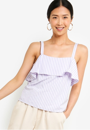 ZALORA BASICS multi Basic Double Layer Strappy Top 1E141AA0086031GS_1