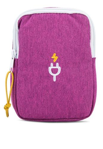 Bagstationz purple Travel Gadget/Power Bank Pouch BA607AC76LRBMY_1