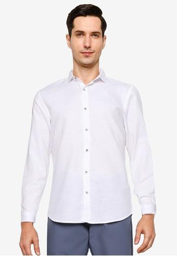 LC Waikiki 白色 Slim Fit Textured Shirt 1B092AA46FCB65GS_1