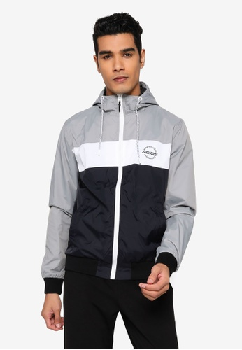 Indicode Jeans black and grey Keyse Colorblock Track Jacket E56A2AAFCED273GS_1