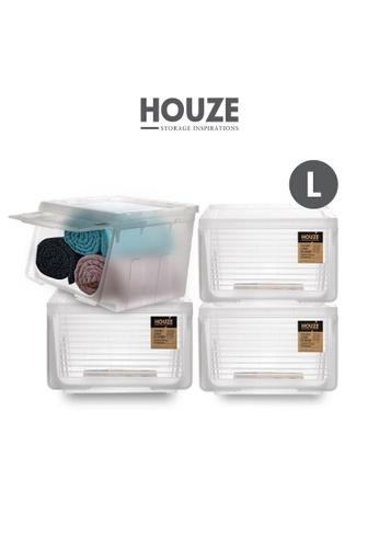 HOUZE [SET OF 4] HOUZE Stackable Sliding Lid Drawer (Large) 5FC7FHL2DB5ECFGS_1