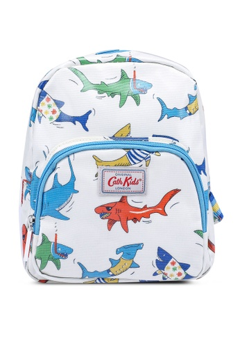 Cath Kidston white Summer Sharks Kids Mini Backpack 89A2AKC0B19C50GS_1