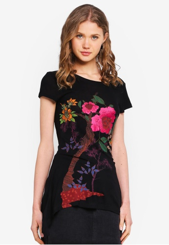 Desigual black Chiasa T-Shirt 3837AAAA636620GS_1