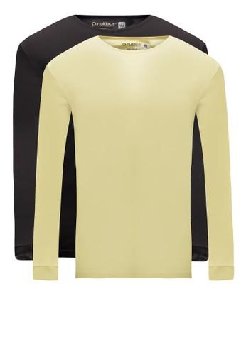 二入組Ha Noi 有機esprit女裝棉長袖TEE, 服飾, 素色T恤