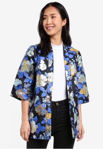 Y.A.S blue and navy Oria Kimono YA631AA0S3Y8MY_1