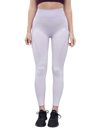Famme Sportswear pink Famme Sportswear Orchid Bloom Elevate Vortex Leggings 177B6AA37A7F4DGS_1