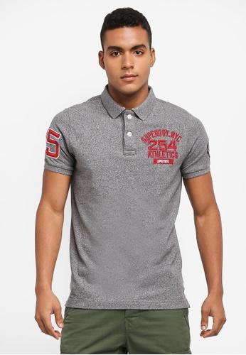 Superdry 灰色 素色刺繡POLO衫 DFB10AADC86758GS_1