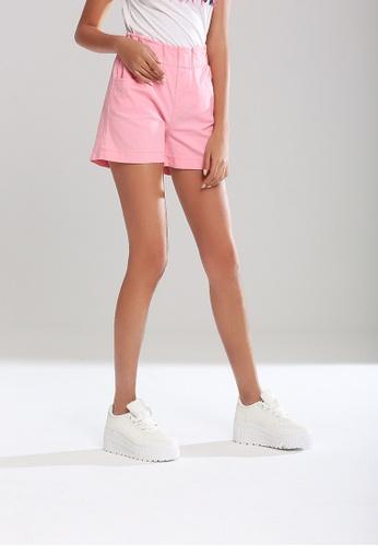 London Rag pink Elastic Waist Shorts 28BC2AA2670AF2GS_1