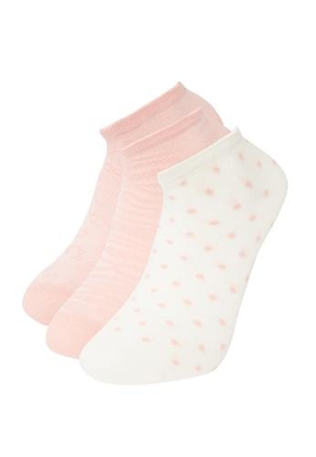 DeFacto pink 3-pack Low Cut Socks 3B159AAA77D58CGS_1