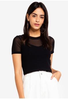 ee22a169d9 Factorie black Short Sleeve Mesh T Shirt 2F369AA0FCEE30GS 1
