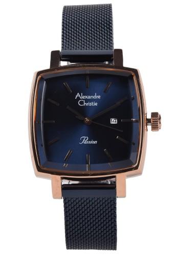 Alexandre Christie blue Alexandre Christie - Jam Tangan Wanita - Rosegold - Blue Stainless Steel Bracelet - 2849LDBURBU DE69DACF90828FGS_1