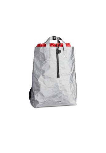 TimBuk2 silver Paper Bag Pack Tote FE9A0AC8754DB1GS_1