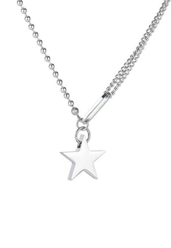 CELOVIS silver CELOVIS - Axl Rockstar Emblem Pendant on Multi Chain Necklace in Silver 5698BACE47D8BFGS_1