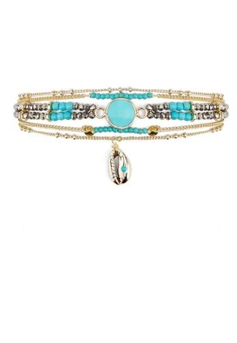 HIPANEMA blue and multi Cuff Mambo turquoise 12441AC769B012GS_1