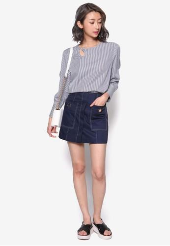金屬孔迷你esprit outlet 台灣短裙, 服飾, 裙子